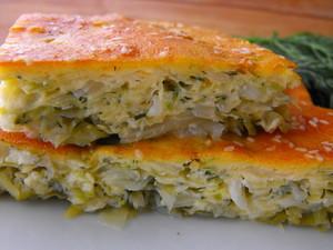 Пирог из капусты кольраби