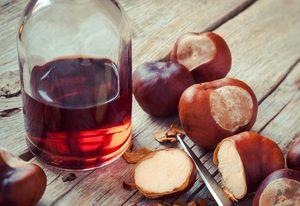 Как сделать на стойку из плодов конского каштана